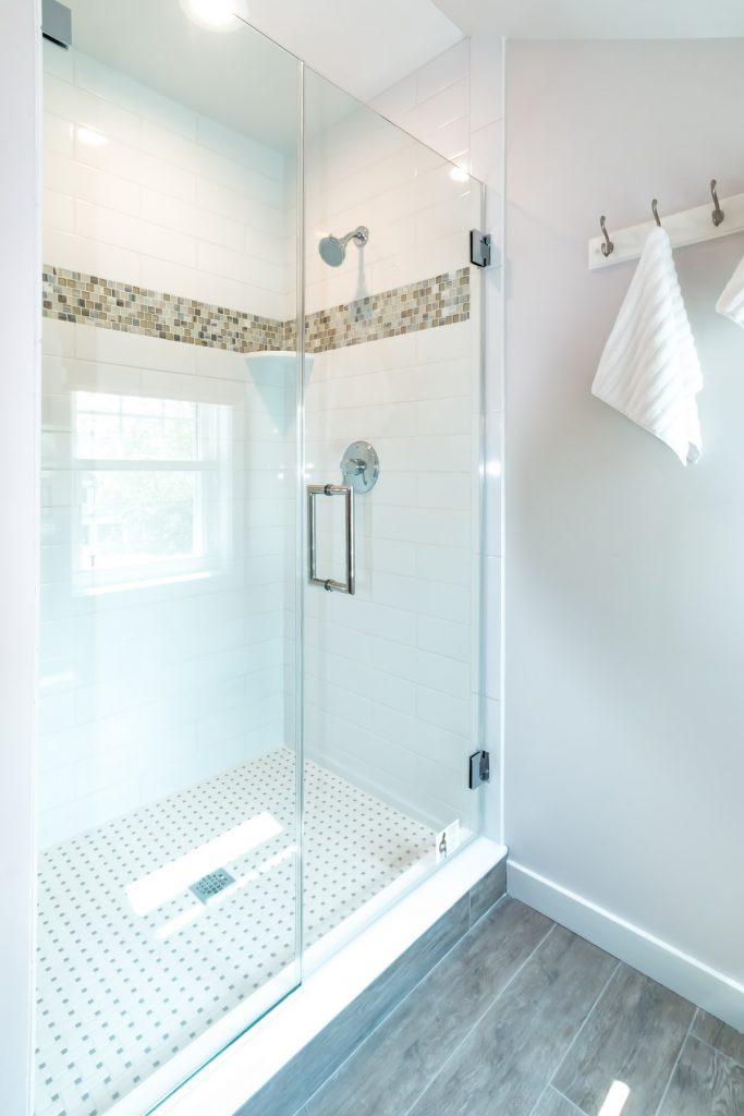 the latest walkin shower designs  under construction