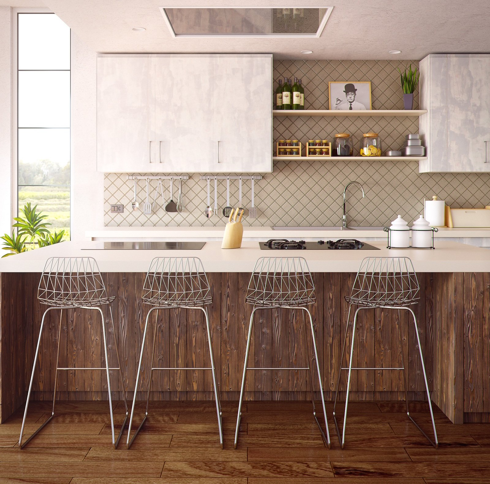 Counter To Ceiling Backsplashes Open Shelving Is One Of The Latest Kitchen Trends