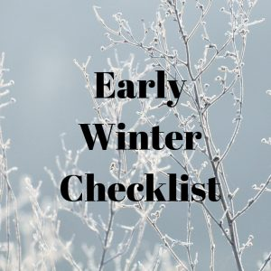 Early Winter Home Maintenance Checklist